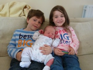 Proud big brother and sister!