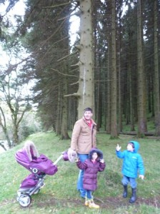 Going 'off-road' on a pine cone hunt in Wales!