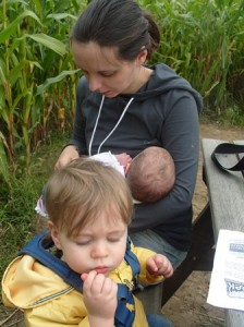 Breastfeeding can be very discreet and just look like you are giving your baby a cuddle!